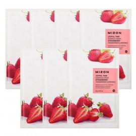 Тканевая маска для лица с экстрактом клубники Mizon Joyful Time Essence Mask Strawberry 23 гр