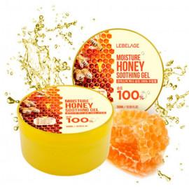Увлажняющий успокаивающий гель LEBELAGE с экстрактом мёда 300мл