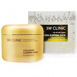 Маска для лица 3W CLINIC ночная КОЛЛАГЕН Collagen Sleeping Pack 100 мл