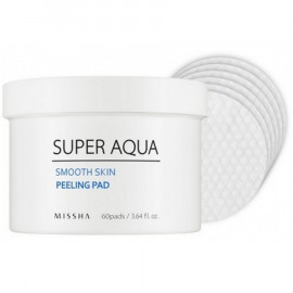 Очищающая маска для лица MISSHA (на ватном диске) Super Aqua Smooth Skin Peeling Pad 60 шт
