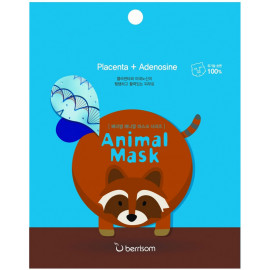 Маска тканевая baviphat с экстрактом плаценты Animal mask series - raccoon 25мл