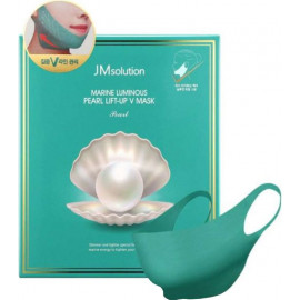 Лифтинг-маска Jmsolution для V зоны с жемчугом Marine Luminous Pearl Lift-up V Mask 25 гр
