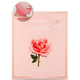 Лифтинг-маска Jmsolution для V зоны с розой Glow Luminous Flower Lift-up V Mask Rose 25 гр