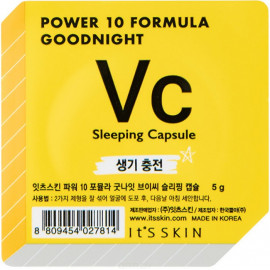 Ночная маска-капсула Its Skin Power 10 Formula Goodnight Sleeping Capsule VC тонизирующая 5г