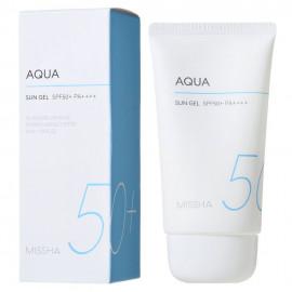 Солнцезащитный ГЕЛЬ для лица MISSHA All Around Safe Block Aqua Sun GEL SPF50+/PA++++ 50 мл