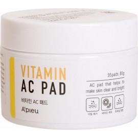 Витаминная маска для лица на ватном диске APIEU Vitamin AC Pad 80 гр