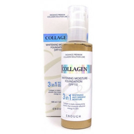 Тональная основа Enough Collagen 3 in 1 Whitening Foundaion SPF15 13 тон 100 мл