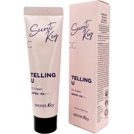 СС крем Secret Key для увлажнения и сияния Telling U CC Cream 30 мл