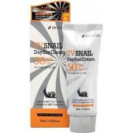 Солнцезащитный крем 3W CLINIC с муцином улитки UV Snail Day Sun Cream 70 мл