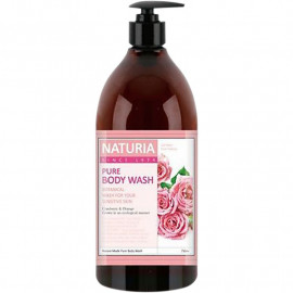 Гель для душа NATURIA РОЗА, РОЗМАРИН PURE BODY WASH Rose & Rosemary 750 мл