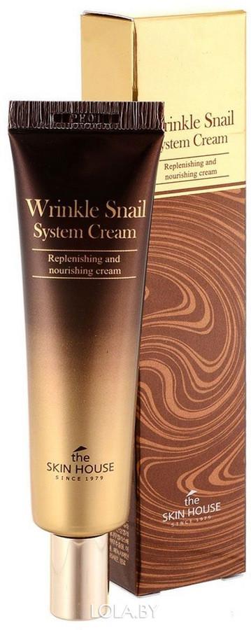 Антивозрастной крем The Skin House на основе муцина улитки Wrinkle Snail System 30мл
