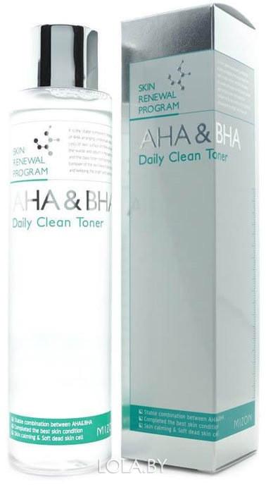 Тонер для лица Mizon AHA BHA Daily Clean Toner 150 мл