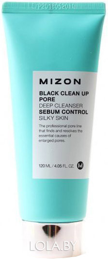 Очищающая пенка-скраб для борьбы с расширенными порами Mizon Black Clean Up Pore Deep Cleanser 120 мл