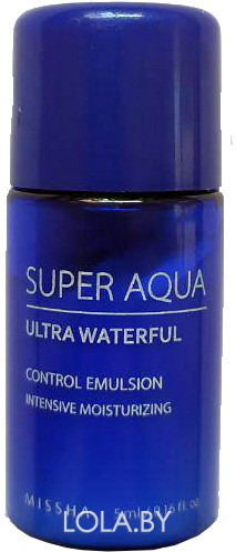 ПРОБНИК Эмульсия для лица MISSHA Super Aqua Ultra Waterful Control Emulsion 5ml