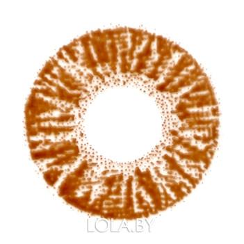 Цветные линзы HERA Rich Brown на 3мес. от 0 до -8дптр (2шт)