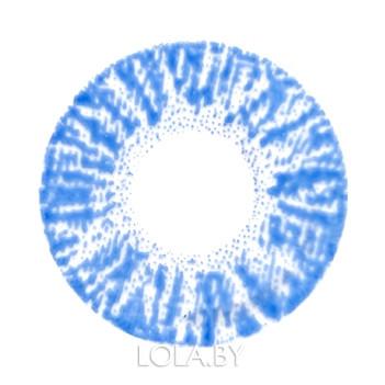 Цветные линзы HERA Rich Blue на 3мес. от 0 до -8дптр (2шт)