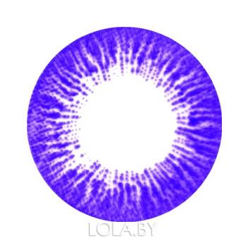 Цветные линзы HERA Rise Violet на 3мес. от 0 до -8дптр (2шт)