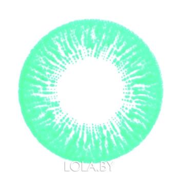 Цветные линзы HERA Rise Aqua на 3мес. от 0 до -8дптр (2шт)