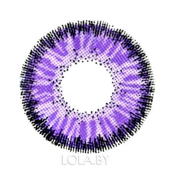 Цветные линзы HERA Classic Violet на 3мес. от 0 до -8дптр (2шт)