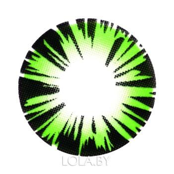 Цветные линзы HERA Exotic Green на 3мес. от 0 до -8дптр (2шт)