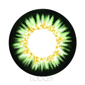 Цветные линзы HERA Elite Green на 3мес. от 0 до -8дптр (2шт)