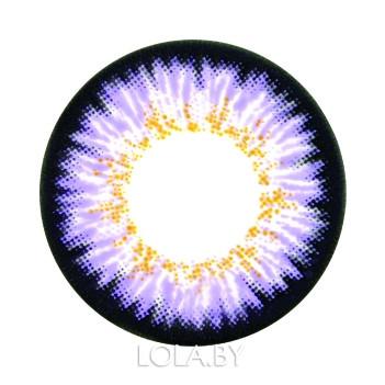 Цветные линзы HERA Paradise Violet на 3мес. от 0 до -8дптр (2шт)