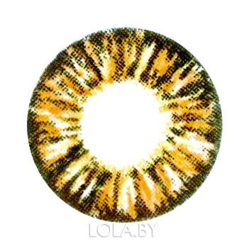 Цветные линзы HERA Glamour Brown на 3мес. от 0 до -8дптр (2шт)