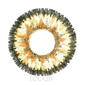 Цветные линзы HERA Gold Original на 3мес. от 0 до -6дптр (2шт)