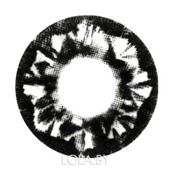 Цветные линзы HERA Black Stone на 3мес. от 0 до -6дптр (2шт)