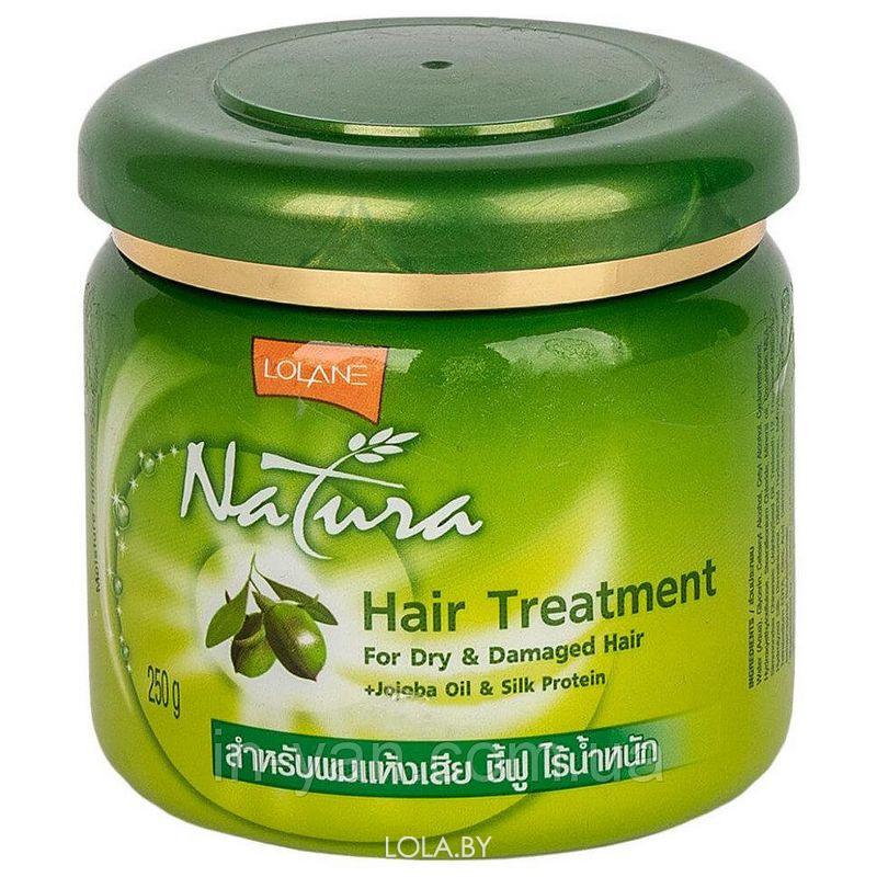 Маска LOLANE для сухих и поврежденных волос с маслом жожоба и протеинами шелка 250 гр