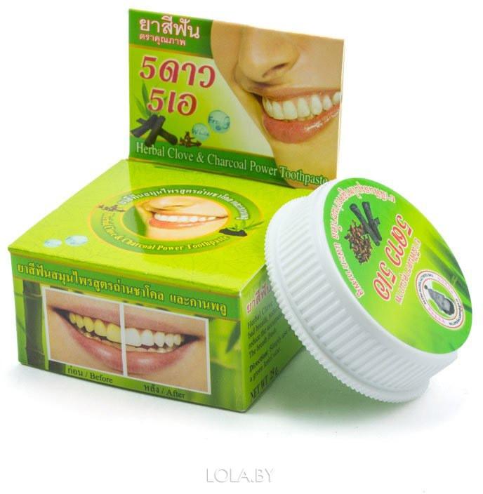 Круглая зубная паста 5 STAR с экстрактом бамбука 25 гр