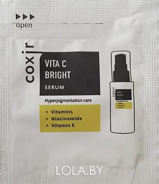 ПРОБНИК Сыворотка COXIR выравнивающая тон кожи с витамином С 2мл