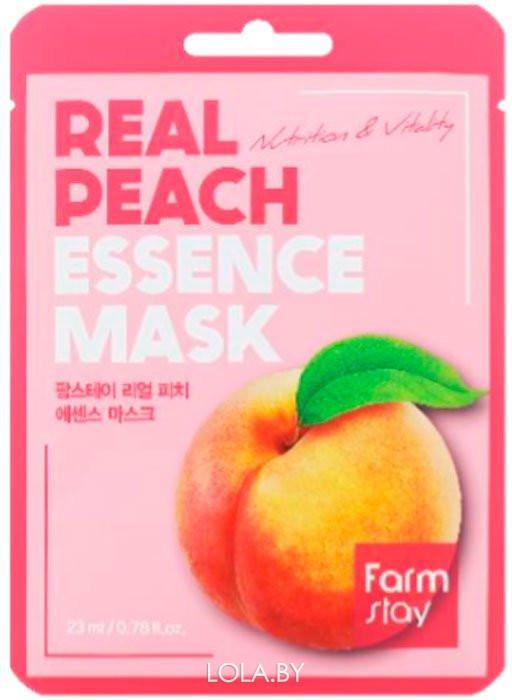 Тканевая маска для лица FarmStay с экстрактом персика 23мл