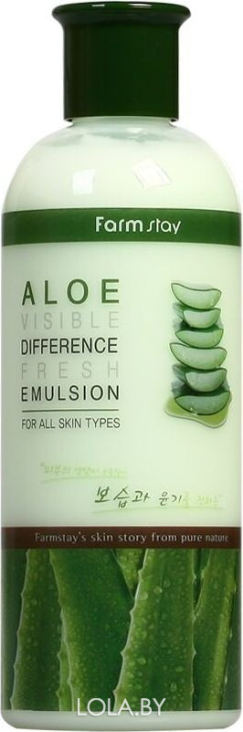 Освежающая эмульсия FarmStay с экстрактом алоэ Aloe Visible Difference 350 мл