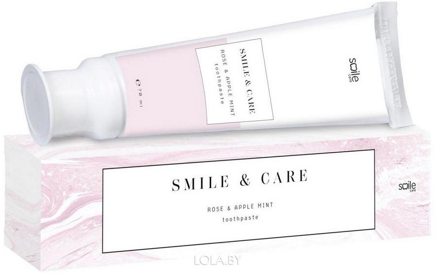 Зубная паста Smile Care роза и мята 70 мл