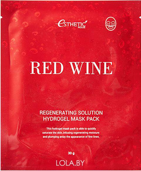 Гидрогелевая маска для лица Esthetic House RED WINE REGENERATING SOLUTION 1 шт