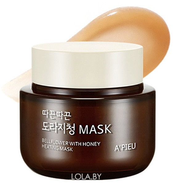 Маска для лица APIEU с медом согревающая Bellflower With Honey Heating Mask