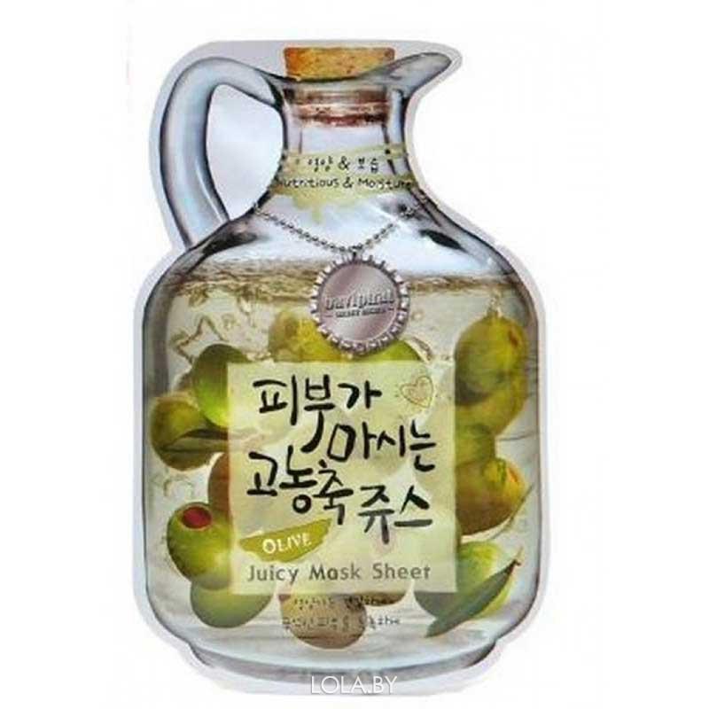 Тканевая маска для лица BAVIPHAT фруктовая Olive Juicy Mask Sheet (nutrition & Moisturizing)
