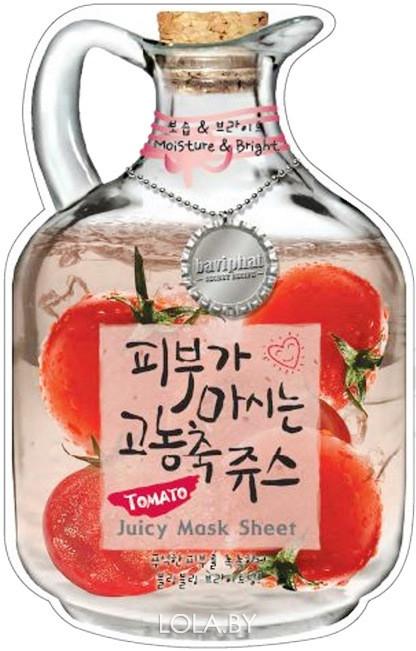 Тканевая маска для лица BAVIPHAT фруктовая Tomato Juicy Mask Sheet ( Moisture & Bright )