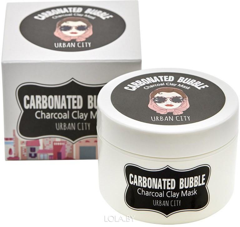 Маска для лица BAVIPHAT глиняно-пузырьковая Urban City Carbonated Bubble Charcoal Clay Mask 100мл