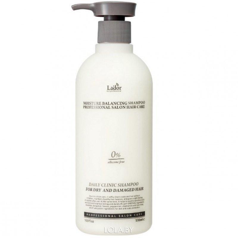 Шампунь для волос LADOR увлажняющий Moisture Balancing Shampoo 530мл