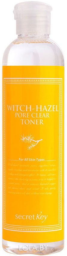 Тоник SECRET KEY для пор с экстрактом гамамелиса Witchhazel Pore Clear Toner 248 мл