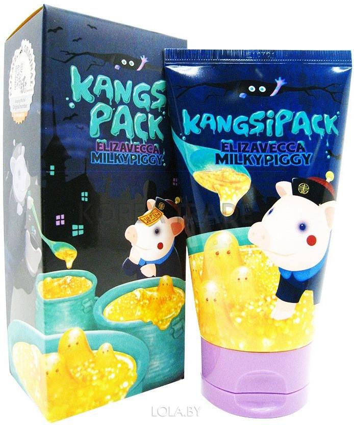 Маска для лица ELIZAVECCA с экстрактом золота Kangsipack Milky Piggy 120мл