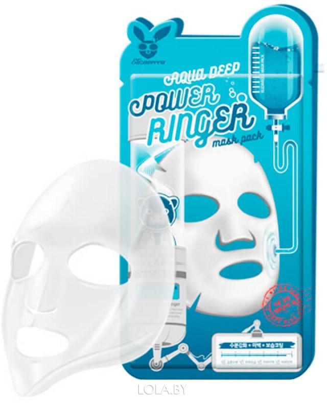 Тканевая маска для лица Elizavecca Увлажняющая AQUA DEEP POWER Ringer mask pack
