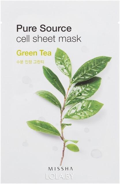 Маска для лица на тканевой основе MISSHA Pure Source Cell Sheet Mask Green Tea