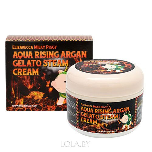 Крем для лица Elizavecca АРГАНОВОЕ МАСЛО Aqua Rising Argan Gelato Steam Cream 100 гр