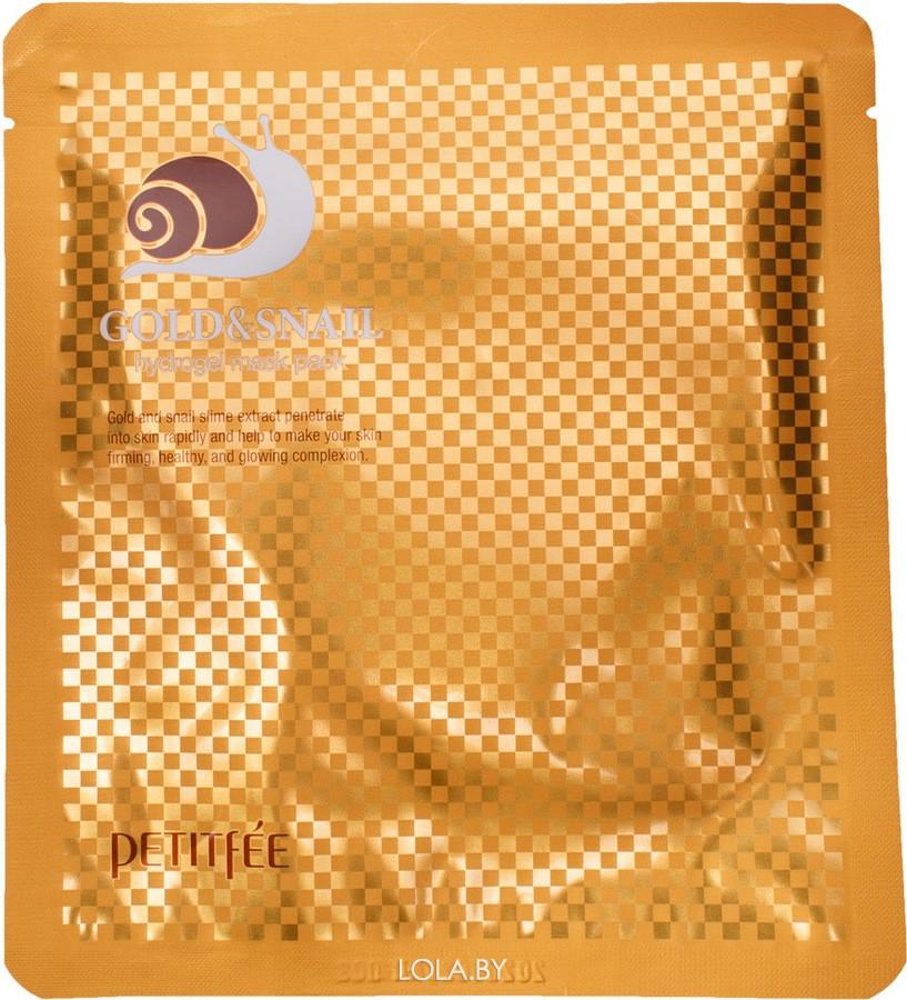 Маска для лица гидрогелевая Petitfee ЗОЛОТО/УЛИТКА Gold&Snail Transparent