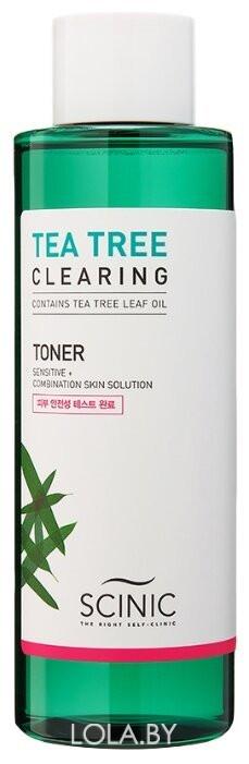 Очищающий тонер SCINIC на основе чайного дерева TEA TREE CLEARING TONER 500 мл