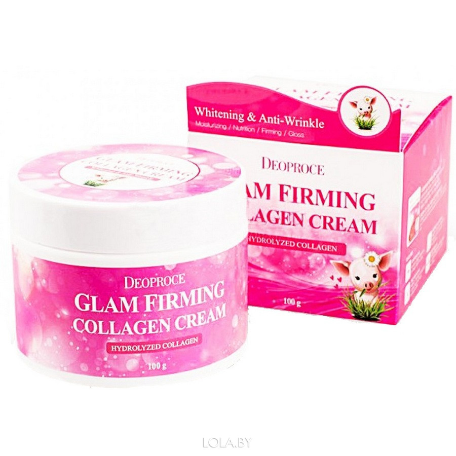 Крем DEOPROCE c коллагеном MOISTURE GLAM FIRMING COLLAGEN CREAM 100 гр