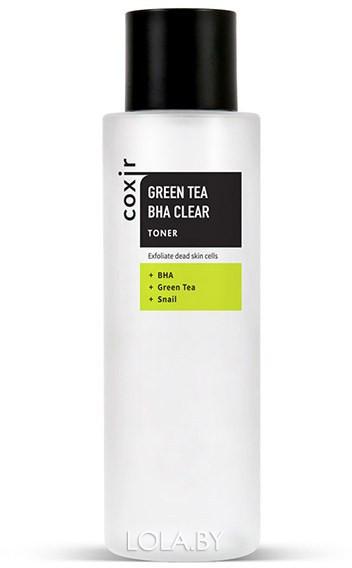 Тонер COXIR отшелушивающий с зеленым чаем и BHA-кислотами 150мл